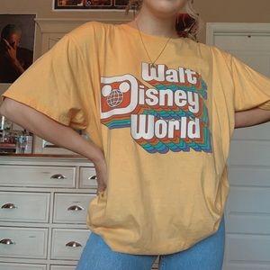 Walt Disney World Retro Yellow Tee Shirt